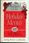Holiday Menus For Busy Women By Sue Gregg And Emilie Barnes Brand New