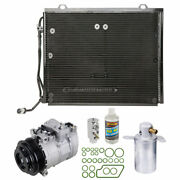 For Mercedes-benz C230 1999 2000 A/c Kit W/ Ac Compressor Condenser And Drier Tcp