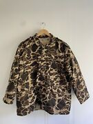 Vintage Duck Camo Jacket Mens Xl Lined Army Issue Korea Vntg
