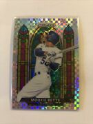 2021 Prizm Baseball Mookie Betts Stained Glass Plaid Prizm /75 Ssp- Case Hit