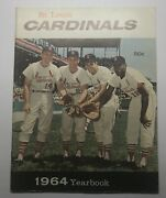 Vintage 1964 St. Louis Cardinals Yearbook - Contains Superb Gibson Autograph