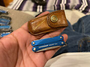 Leatherman Squirt Es4 Multi Tool Blue Wire Strippers With Sheath Rare