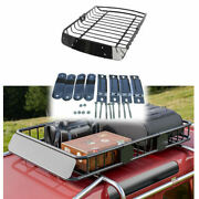 Roof Rack Cargo Top Luggage Holder Carrier Basket With Extension Travel