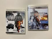 2 Game Lot Battlefield Bad Company 2 + Battle Field 4 Iv Playstation 3 Ps3 Ps