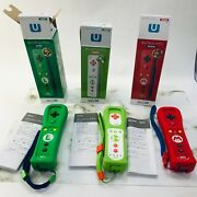 Nintendo Wii Official Remote Controller Mario Luige Yoshi Plus Wii U Limited