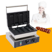 Commercial Nonstick Electric Hot Dog Waffle Baker Maker Machine Stainless Steel