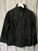 Barbour And039waxed Silkand039 Utility Jacket - Size 10 - Black