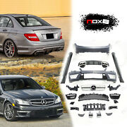 For Mercedes C Class 2008-2013 Upgrade Body Kit Conversion Facelift Amg 63 2016