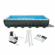 Intex 26367eh 24and039 X 12and039 X 52 Rectangular Ultra Xtr Frame Swimming Pool W/ Pump