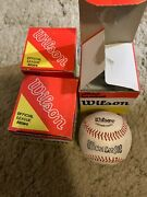 3 Vintage Wilson A1084 Official League Baseballs With Boxes