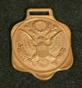 Wwi Era America First Watch Fob Great Seal 'grammes And Sons' Allentown Pa - Orig.