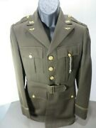 Ww2 Us Army Aaf Officers Uniform Jacket With Nice Felt Aaf Patch And Insignia