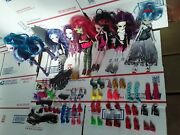 Lot Of 7 Monster High Doll With Clothes, Shoes Accessories Horse Mermaid