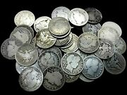 Full Date - Roll Of 40 Barber Silver Quarters - 10 Face Value 90 Silver