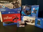 Ps4 Slim 1tb Psvr Bundle With Games And Platinum Headset