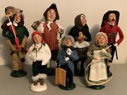 Vintage 90s - 2000s Byers Choice Carolers Lot Of 7
