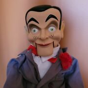 Slappy Goosebumps Ventriloquist Dummy Doll Glowing Eyes Moveable Mouth