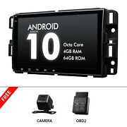 Cam+obd+ 8 Android 10 4+64g Car Stereo Touch Screen Gps For Chevrolet Silverado