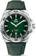 Tutima 6155-05 M2 Seven Seas S Stainless Steel 44mm Green Leather