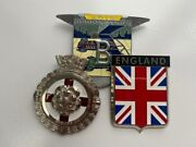 Vintage Bentley Grill Badge Gift Set.3x Classic Car Grill Badges For All Bentley