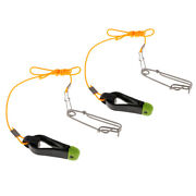 2pcs Heavy-duty Outrigger Power Grip Snap Release Clip W/ Leader For Fishing