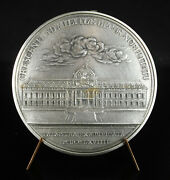 Test Medal Silver Louis Xv Construction Of School Military Duvivier Re1749