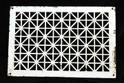 2 Matching Vintage Ornate Cast Iron Floor Grate Cold Air Return Vent 21 X 14
