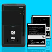 High Power 2x 1000mah Battery Universal Charger For Samsung Solstice Sgh-a887 Us