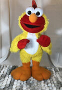 Sesame Street Chicken Dance Elmo Doll By Fisher Price - Sings And Flaps Wings D4
