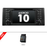 Obd2+2din Car Radio Touch Screen Android 10 7 Dvd Gps Nav Stereo For Bmw E39 M5