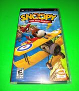 Snoopy Vs The Red Baron Complete Playstation Portable Psp Video Game Sony Tested