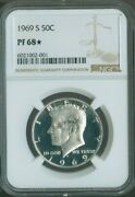 1969 S Kennedy Half Dollar Ngc Pf68 Star Frost White Quality✔️