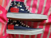 Unisex Sk8-hi Skate Shoes Peanuts Snoopy Flying Ace Mens 5.5 Womens 7