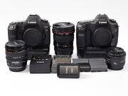 Canon Eos 5d Mark Ii 21.1 Mp Digital Camera + 17-40mm F4 L Lens Lot With Extras.