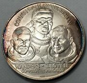 1968 America In Space Apollo 8 .999 Silver Medal Moon Orbital Mission-ms