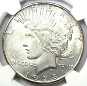 1928-s Peace Silver Dollar 1 Coin - Certified Ngc Uncirculated Detail Unc Ms