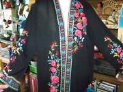 Plus Size 3xl-embroidered Open Flowy Light Weight Open Jacket-gorgeous-look