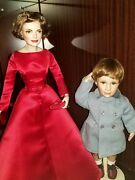 Franklin Mint Jackie Kennedy Porcelain Doll And Jfk Jr. Farewell To His Day Doll