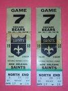 Chicago Bears Vs. New Orleans Saints Ticket Stubs 1968 Pair Of 2