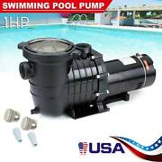 1hp In-ground Swimming Pool Pump Spa Motor Strainer Above Ground Usa