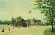 View Of Guards At Main Entrance To Fort Monmouth, New Jersey Postcard