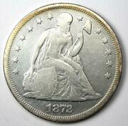 1872 Seated Liberty Silver Dollar 1 - Vf Details- Rare Early Coin