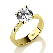 Authentic 1.25 Ct Solitaire Round Brilliant Diamond 14k Yellow Gold Promise Ring