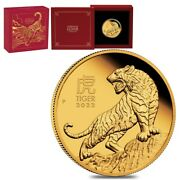 2022 1 Oz Proof Gold Lunar Year Of The Tiger Australian Perth Mint W/box And Coa