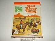 Vintage Red River Gang Playset Marx Toys 1970s With Box Top Playmat Cowboys 4104