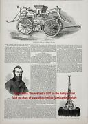 New York City Fire Dept Fdny Brooklyn 1856 Antique Engraving Print And Article