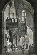 New York City Trinity Church Organ Bay On Broadway 1880s Antique Print And Article