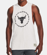 Under Armour Project Rock Tank Top Mens 3xl New Charged Cotton Training White