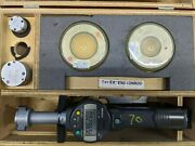Mitutoyo 568-978 Digital Bore Micrometers 1-2 0.00005 Resolution Set With Rin