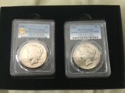 1921- Peace Dollars G Detail /vf High Relief Rare Pcgs